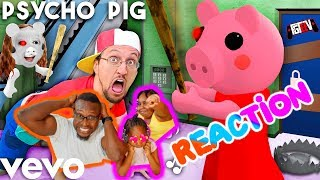 FGTeeV 🎵 PSYCHO PIG -Official Music Video (Roblox PIGGY Song)(Reaction)