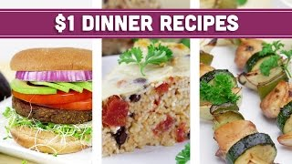 Healthy $1 Dinner Recipes - Easy Budget Meals! - Mind Over Munch