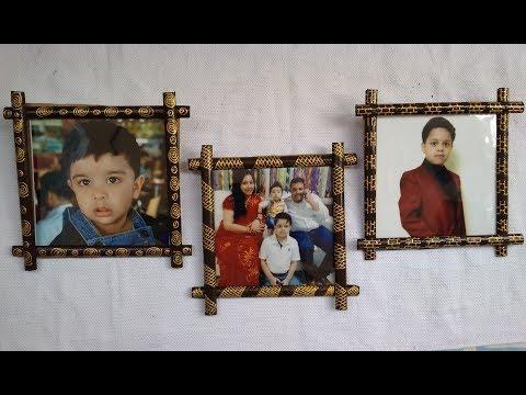 DIY  ECO FRIENDLY WOODEN  PHOTO FRAME #ShivisCreations
