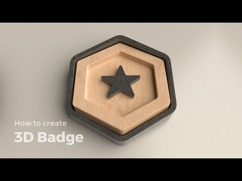 How to design a 3D Badge | Vectary tutorial thumbnail
