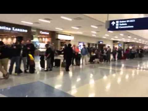 American Airlines Customer Service Line at DFW - YouTube