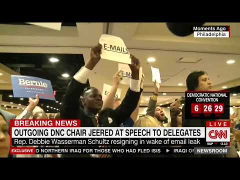 CNN: Complete Chaos as Schultz Escorted Out of Florida Speech by Security, Ignored Media Questions