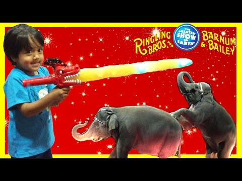 Thumbnail: CIRCUS Family Fun for Kids Ringling Bros. Barnum Bailey Ryan ToysReview