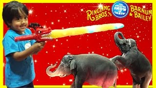 CIRCUS Family Fun for Kids Ringling Bros. Barnum Bailey Ryan ToysReview