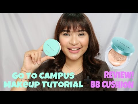 """My """"GO TO CAMPUS"""" Makeup Tutorial + Review BB CUSHION MAYBELLINE   Bahasa Indonesia  Rachel Cynthia"""