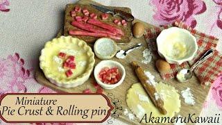 Miniature Baking Scene - Pie Crust And Rolling Pin Tutorial