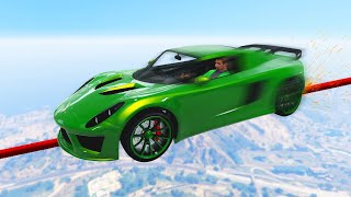 MILE HIGH CAR GRINDING CHALLENGE! (GTA 5 Funny Moments)
