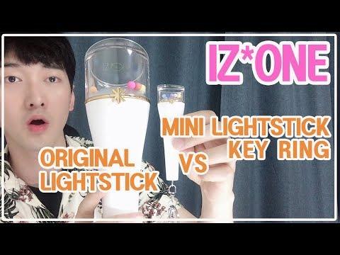 [SUB] IZONE 1st CONCERT GOODS MINI LIGHTSTICK KEY RING & BENEFITS PHOTOCARD アイズワン ミニペンライトキーリング