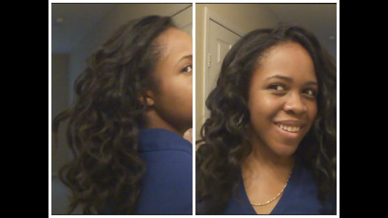 Twist Out On Flat Ironed Natural Hair