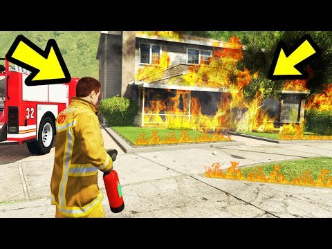 I Try Playing as a Fireman in GTA 5!