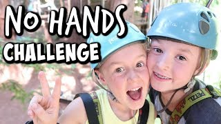 No Hands Challenge - On a Ropes Course!