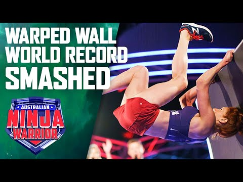 Six women smash a world record on the warped wall   Australian Ninja Warrior 2019