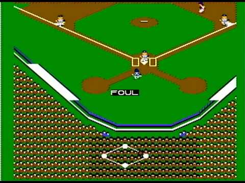 Major League Baseball NES Gameplay