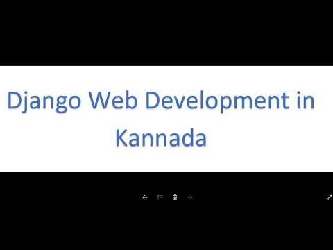 Django: web development kannada tutorials PART-1