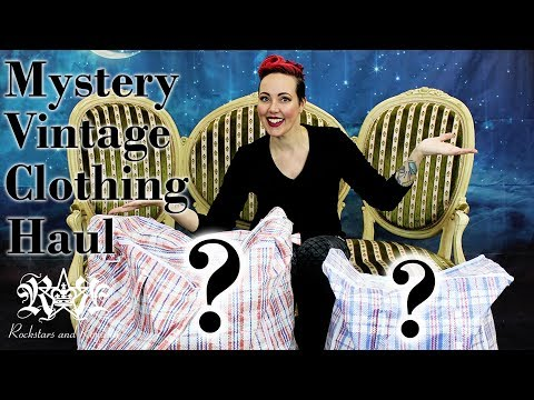 Mystery Vintage Clothing Haul For Future Rocked Up Frocks | Rockstars and Royalty