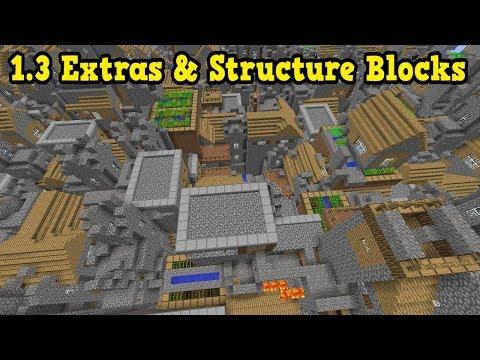 Minecraft Xbox / PE 1.3 Bonus Features & Structure Blocks