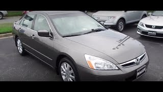 2007 Honda Accord EX-L V6 Walkaround, Start up, Exhaust, Tour and Overview