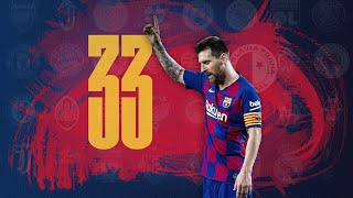 Messi scoring against 33 different teams in the Champions League