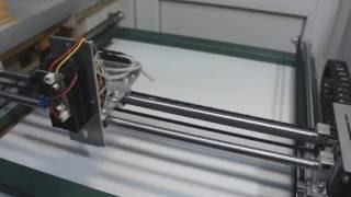 Лазерный выжигатель с ЧПУ  №1. Механика(Запчасти использованные для постройки станка: Натяжители ремней http://ali.pub/guret Гибкий кабель-канал 10х20 http://ali...., 2016-08-29T18:36:13.000Z)