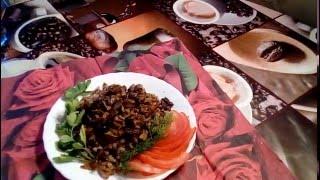 Постное блюдо. Гречка с грибами.