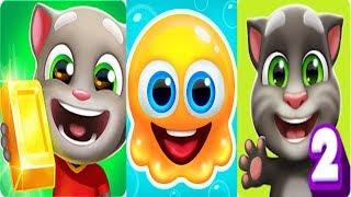 Для дітей желе проти Мій Говорить Том 2 на Говорить Те золотом запустити нове оновлення Android геймплей