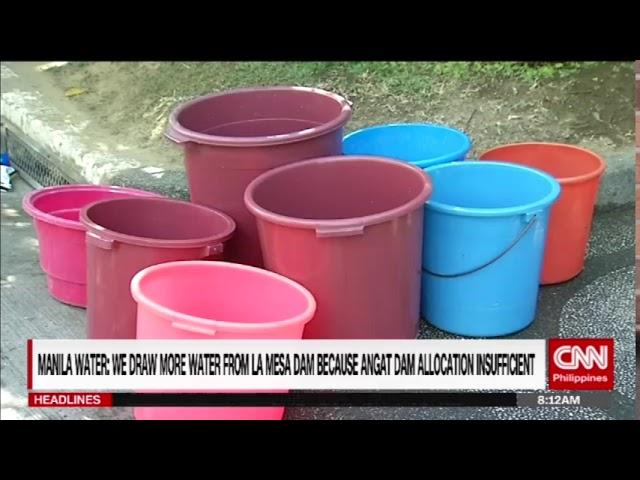 No water, low water pressure in parts of Metro Manila, Rizal (Dittie Galang)