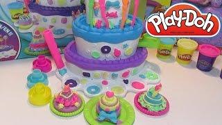 Пластилин для детей Плей До - набор Праздничный Торт Play doh Mountain cake(Мега обзор набора