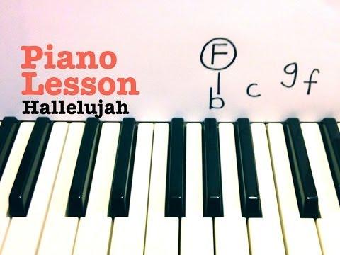 Hallelujah Piano Lesson EASY  Rufus Wainwright   Todd Downing