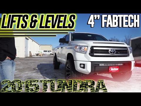 Lift and levels 2015 toyota tundra 4 fabtech lift youtube lift and levels 2015 toyota tundra 4 fabtech lift aloadofball Choice Image