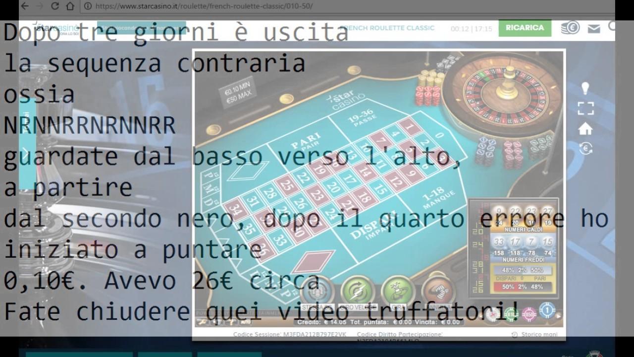 Roulette metodo vincente cartable a roulette pas cher