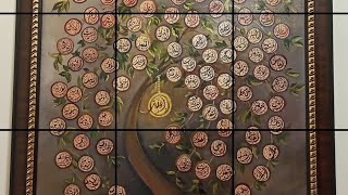 99 names of Allah acrylic painting by hijabiartista #99namesofallah #calligraphy #arabic