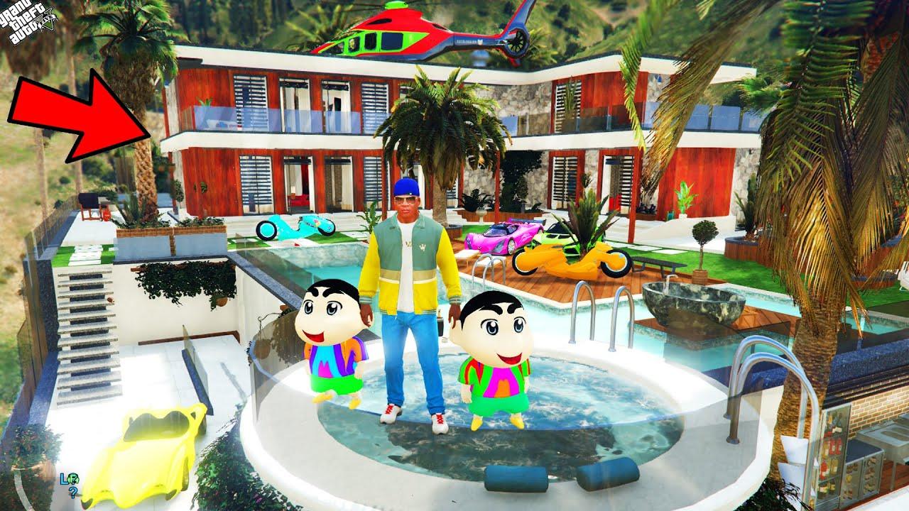 GTA 5 : Shinchan & Pinchan Buy Luxury House To Surprise Franklin in GTA 5 ! (GTA 5 mods)