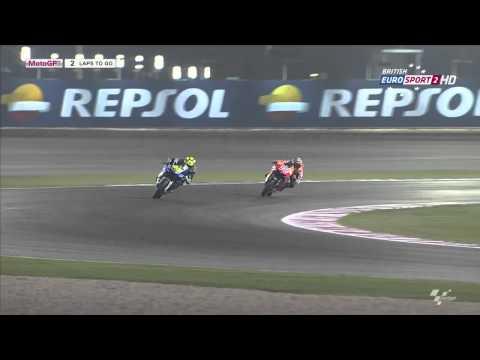 Rossi vs Marquez losail @qatar 2013