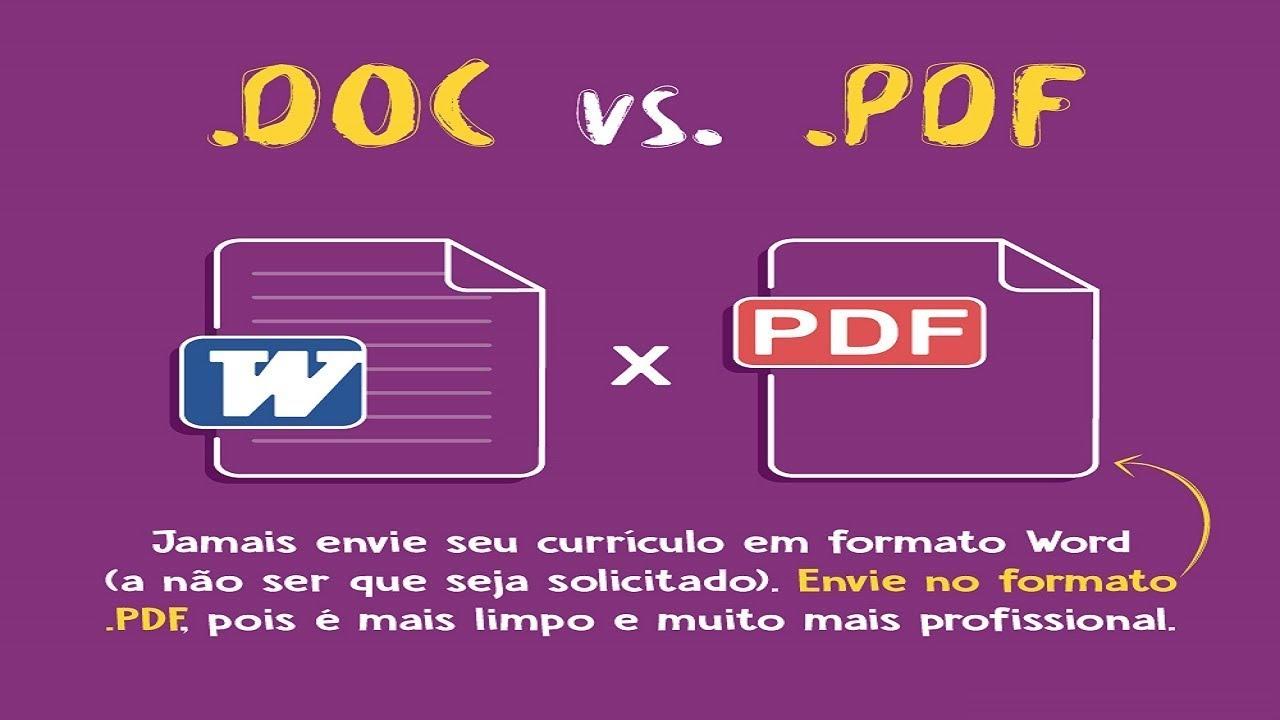 Enviar o Currículo em  PDF ou Word? Saiba o correto!