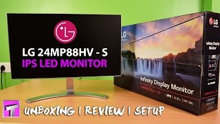 LG 24MP88HV-S IPS LED 24 Inch Monitor Unboxing Setup Review Best for Gaming
