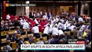 Brawl Breaks Out at South African Parliament