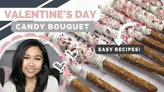Valentine's Day Candy Bouquet DIY + Recipe | Easy Treat Bag Ideas