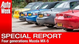 Vier generaties Mazda MX-5