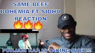 AMERICAN REACTS to SAME BEEF - BOHEMIA ft SIDHU MOOSEWALA   INDIAN RAP IS TAKING OVER!!   REACTION