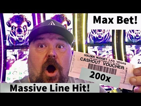 Massive Line Hit! 200x Max Bet! Buffalo Grand Free Spins Bonus! Slot Machine Play!