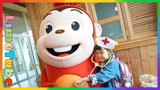코코몽이 아파요! 라임이 장난감 병원놀이 코코몽 에코파크 어린이 놀이터 놀이공원 Cocomong Eco Park Children Playground LimeTube