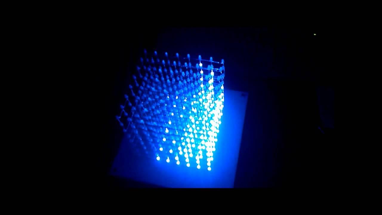 Project Led Cube Spectrum Analyzer Audio Circuit 400led Youtube