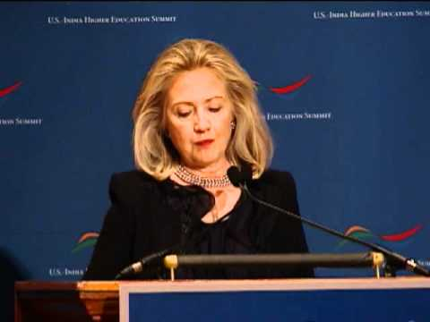 Secretary Clinton Delivers Remarks at the U.S.-India Higher Education Conference