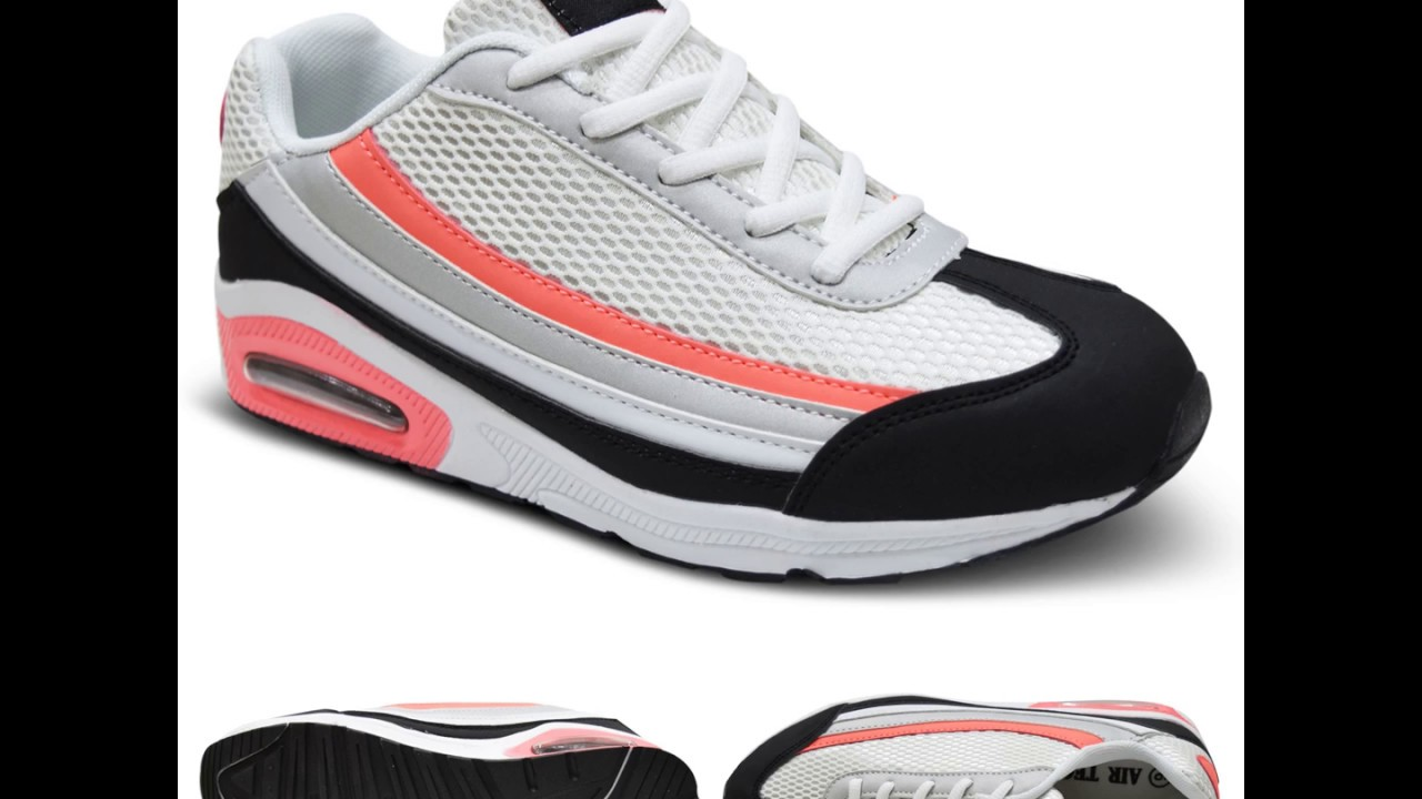 Womens ladies  Air pockets breathable Shock Absorb Lace Up Latest Trainers shoes