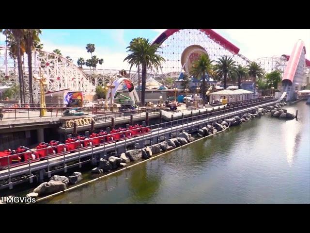 *NEW* Incredicoaster Water Effect in Action! Pixar Pier - Disney California Adventure Park