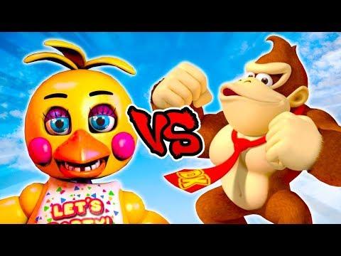 Toy Chica Vs Donkey Kong - Epic Battle - Left 4 dead 2 Gameplay (L4D2 FNAF Custom Skin Mod)