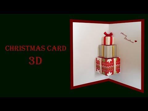 Cách làm thiệp quà tặng 3D đẹp và ý nghĩa | Christmas ver. | Thiệp Noel | Dzi's house | Foci