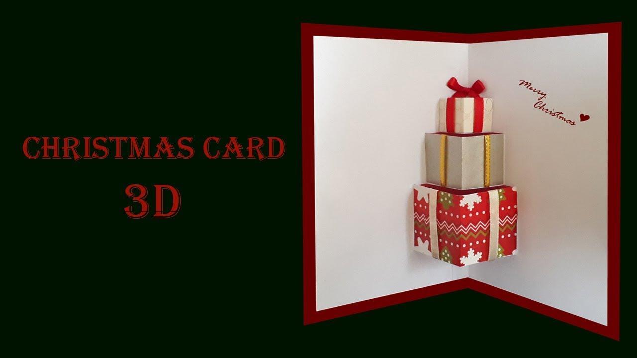 Cách làm thiệp quà tặng 3D đẹp và ý nghĩa    Christmas ver.    Thiệp Noel     Dzi's house