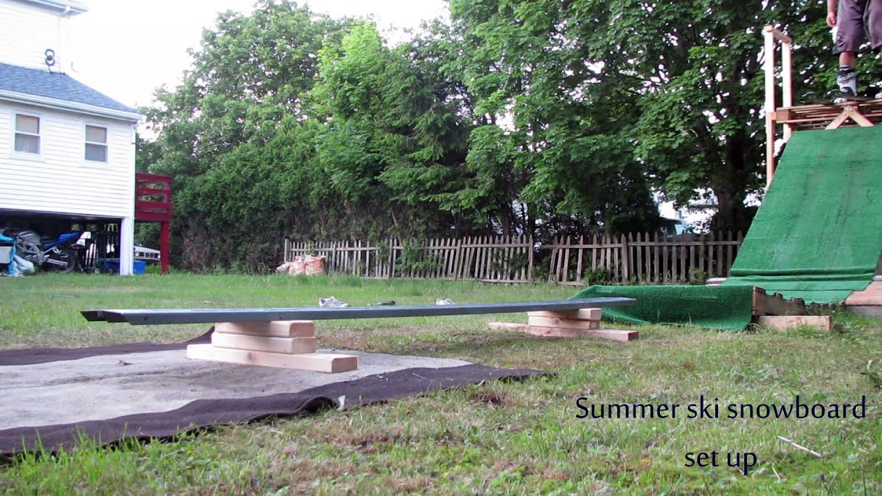 summer ski set up in our backyard 50 project worth it youtube