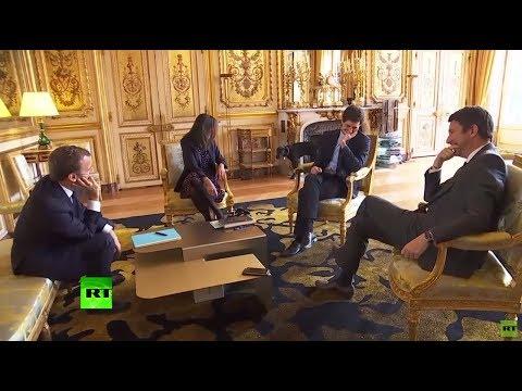Palace leak? Macron's dog crashes media event by peeing on gilded fireplace at Elysee